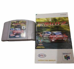 TG Rally 2 Top Gear N64 PAL Version euros no nos Cartucho Y Manual