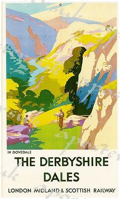Peak District LMS Railway Vintage Retro Picture Old School Poster A4 Print