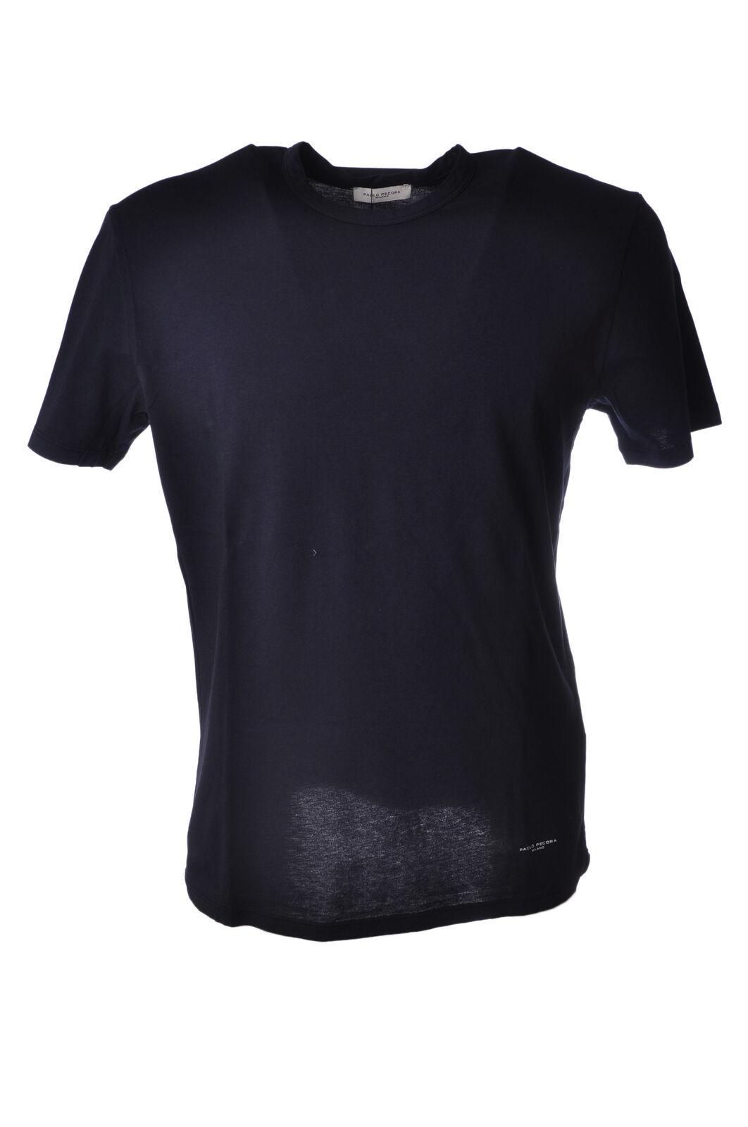 Paolo Pecora - Topwear-T-shirts - Man - Blau - 5040404E183802