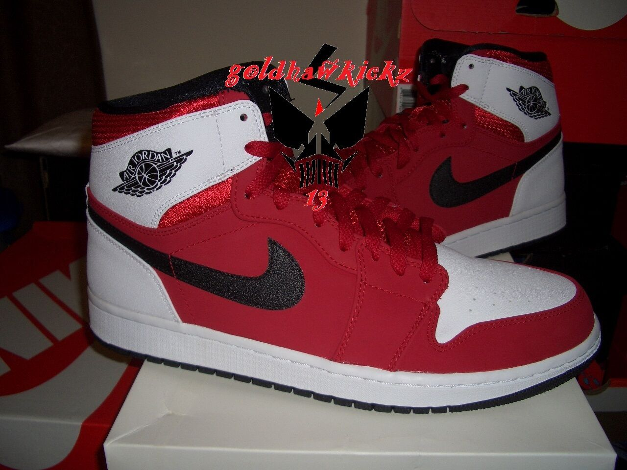 NIKE AIR JORDAN 1 RETRO HIGH gym red black blake griffin PE 332550 601 carmine