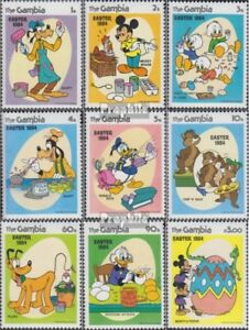 Unmounted Mint complete Issue Never Hinged 1984 Walt-disney-f Diversified Latest Designs Gambia 507-515