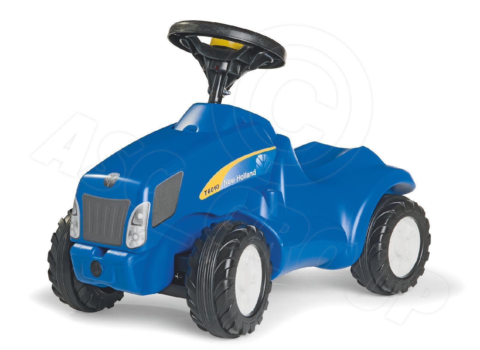Rolly leksaker - New Holland T6010 TVT155 Mini Trac Correpasillos Empujar Tractor