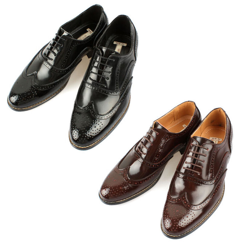 Mooda Mens Leather Wing Tip zapatos Classic Formal Oxfords Dress zapatos Oxford CA