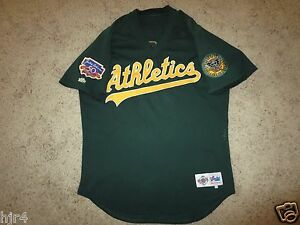 pretty nice b1676 674cd Details about Miguel Tejada #4 Oakland Athletics A's 1997 Jackie Robinson  Game Worn MLB Jersey