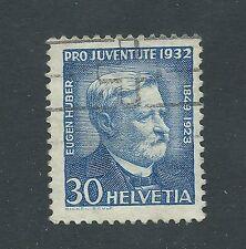SWITZERLAND used Scott B64 30cts pro joventute 1932 Eugen Huber Cat $8.75
