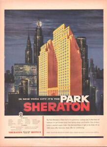 1954 Sheraton Hotel Print Ad The Park In Manhattan New York Frame It Great Decor Ebay