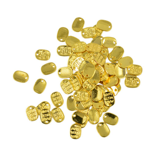 50pcs MADE WITH LOVE Charm Pendant For Jewlery Making 11 x 8 mm Gold