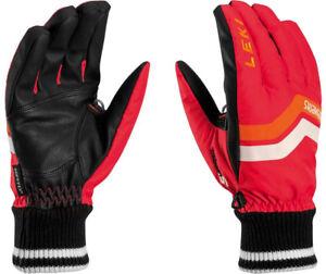 NEW-100-Leki-Elements-Osmium-S-Waterproof-Ski-Gloves-Winter-Mens-Red-Black