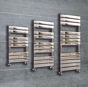 Designer-Flat-Panel-Chrome-Heated-Towel-Rail-Radiator-Warmer-Premium-Bathroom