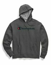 Champion Hoodie Men's Sweatshirt Script Logo Powerblend Pullover Kanga Pocket