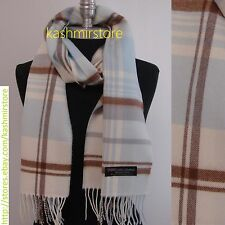 New LONG CASHMERE SCARF Tartan Nova Check Plaid Scotland Soft Warm Wool #N05