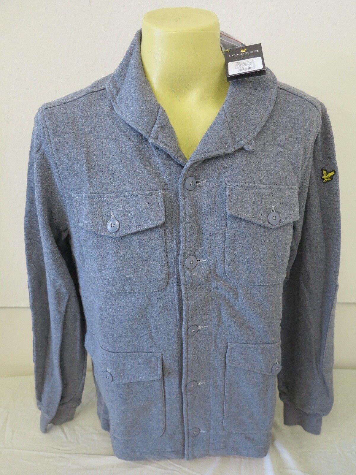 Lyle & Scott Vintage Mens Hunting Coat Jacket Mid grau Marl L Large 200 New