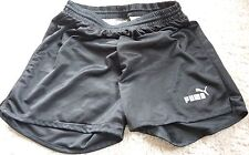 PUMA Herren Damen Turnhose Sporthose Vintage Shorts schwarz Größe D3 -- XS 80er