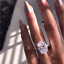Luxury-Oval-White-Zircon-Ring-Silver-Wedding-Engagement-Costume-Jewelry-Gift thumbnail 6