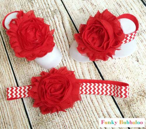 Baby Girls Headband /& Barefoot Sandals Gift Set Soft Girl Pram Shoes Newborn