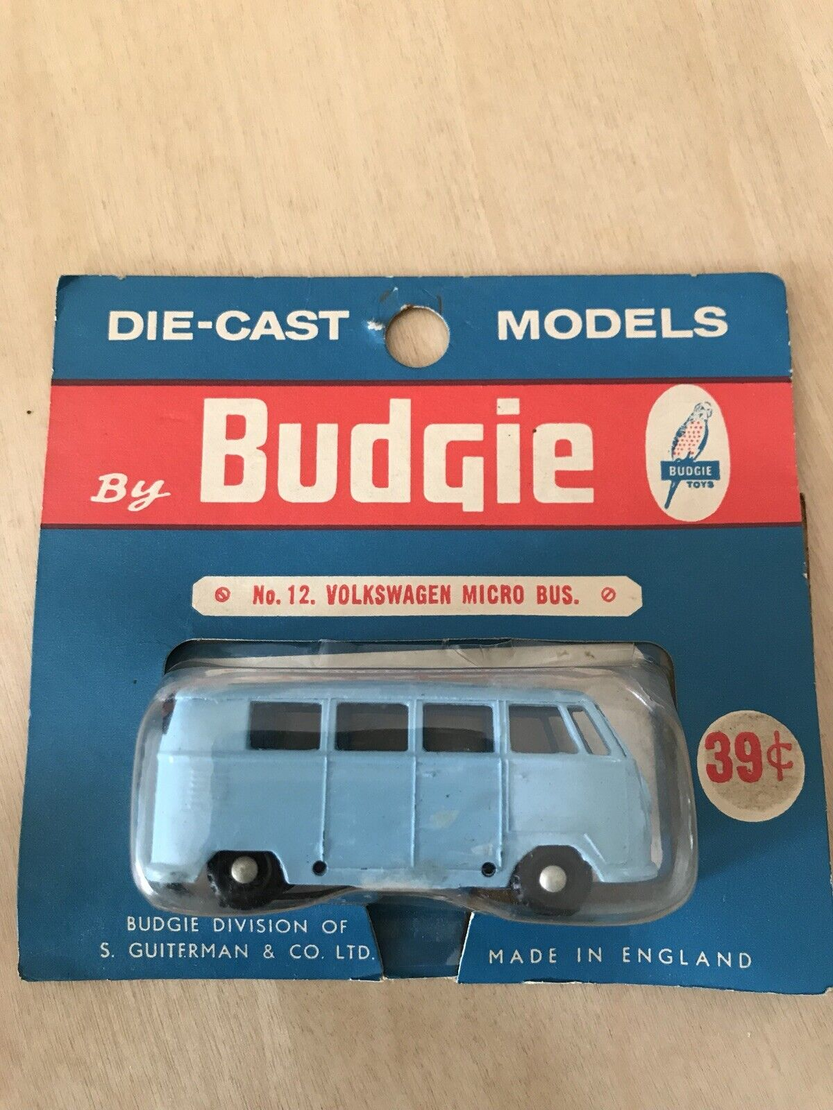 RARE  Budgie TOYS N. 12 Volkswagen Micro Bus in USA Blister