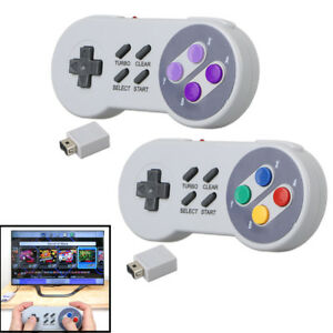 Details about Wireless Gamepad Controller for Super Nintendo SNES Classic  Edition Console USA