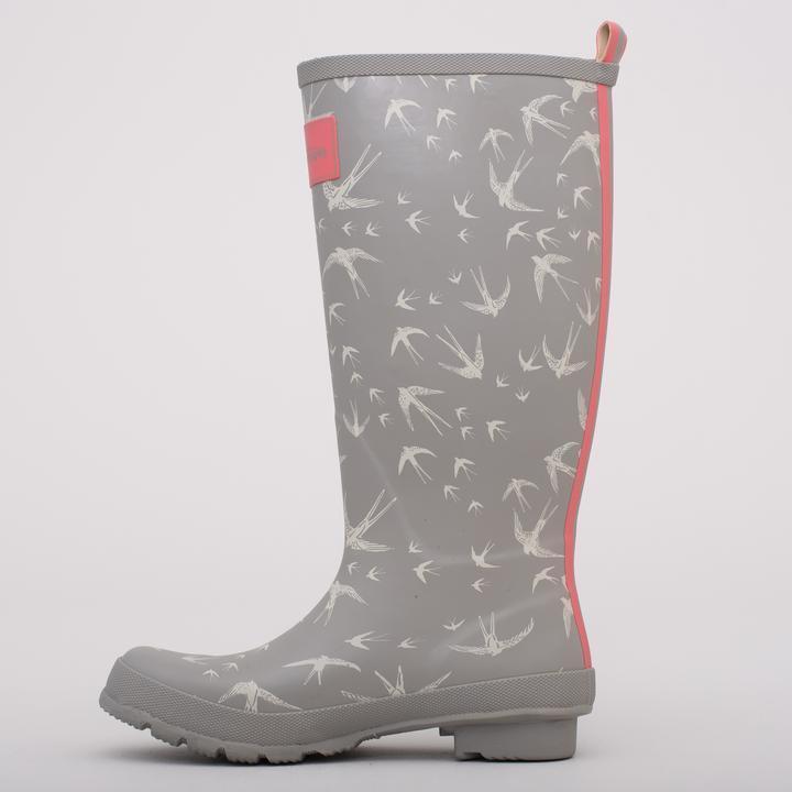 Womens Girls Welly Wellies Wellington boots Festival Rain birds design