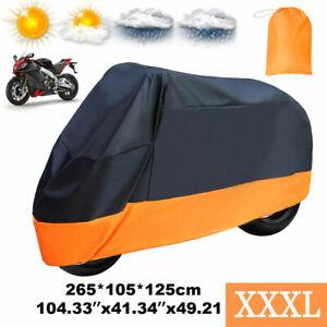 XXXL Motorcycle Bike Cover Waterproof Outdoor Rain Dust Sun UV Scooter Protector
