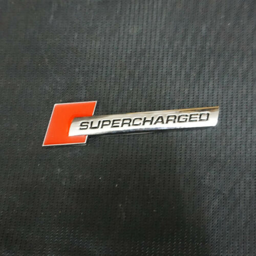 1x Metal Red SUPERCHARGED Chrome Emblem Badge Sticker Engine Sport Turbo Utility