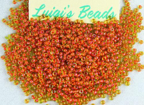 11//0 Round TOHO Japan Glass Seed Beads #303-Jonquil//Hyacinth Lined 10g