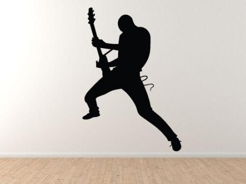 Rockstar Guitarist Silhouette Shadow Version 2 Vinyl Wall Decal ...