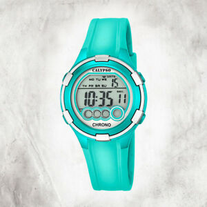 Calypso-Plastic-Pure-Women-039-s-Watch-K5692-7-Wrist-Turquoise-Digital-UK5692-7