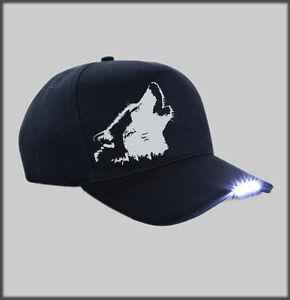 29e3c3690d7 LED SIBERIAN HUSKY FACE BASEBALL CAP SLED DOG HUSKIES SIBES PRESENT ...