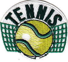 """TENNIS"" w/BALL & NET - Iron On Embroidered Patch - Tennis, Games ,Sports"