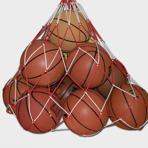 Balls Aufbewahrungs Tasche Kordelzug FußBall Basketball Netzgewebe Sack Ballnetz