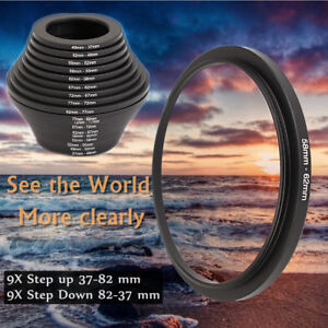 18pcs-Camera-Lens-Filter-Step-Up-amp-Down-Ring-Adapter-Set-for-Cameras-37-82mm