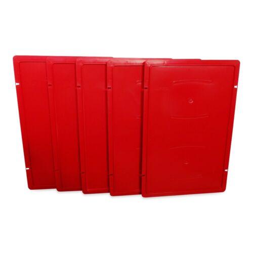 5 Stück Deckel für Metzgerkiste Fleischereikiste Eurokiste E1 E3 rot NEU E2