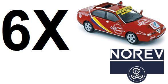 LOTTO di 6 Norev 1 43 Diecast ALFA ROMEO 166 TOUR DE FRANCE 2002-modello di auto