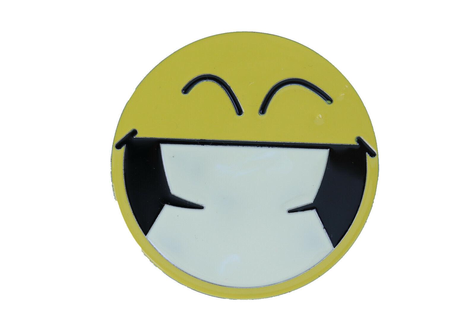 Women Men Belt Buckle Metal Yellow Smiley Face Eyes Cute Character Emoji Cartoon
