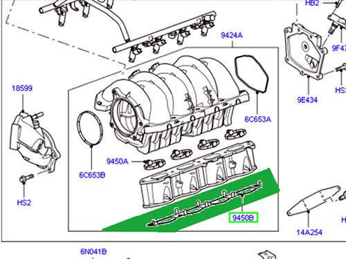 LAND ROVER INTAKE MANIFOLD GASKET RANGE ROVER 06-09 LR3 SPORT OEM NEW 4628235