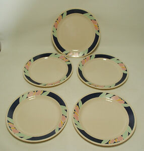Image is loading Vtg-Corning-Corelle-TULIP-ACCENTS-Lot-5-DINNER- : corning dinnerware sets - pezcame.com