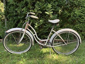Vintage Starlet White Coral B.F. Goodrich Schwinn Bicycle 1950s