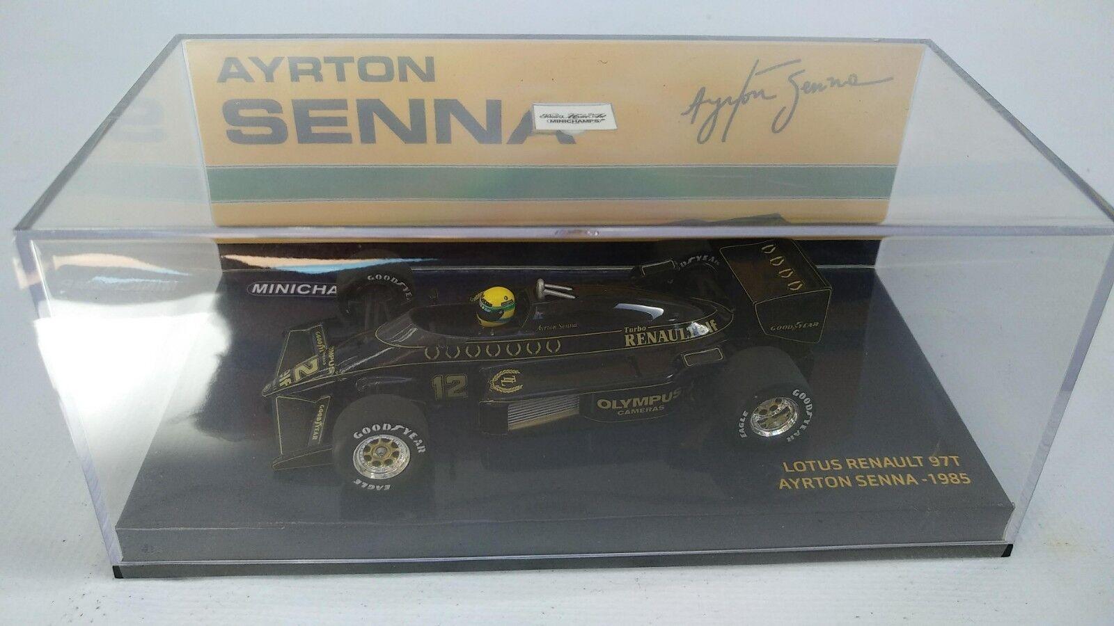 MINICHAMPS 1 43 LOTUS RENAULT 97 T Turbo 1985 Ayrton Senna Diecast voiture jouet F1