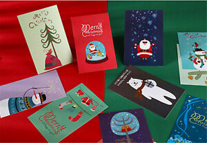 Lot-of-30PCS-Christmas-Cartoon-Printed-Art-Posters-Postcards-Vintage-Post-Cards