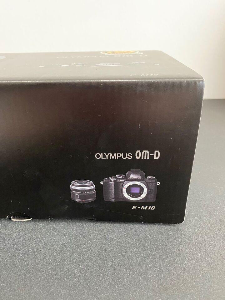 Olympus OM-D EM10, 16 megapixels, 14-42mm x optisk zoom