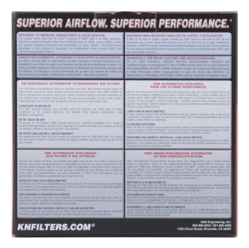 YA-6098 K/&N Replacement Air Filter YAMAHA FZS600 FAZER 98-03 KN Powersports Air