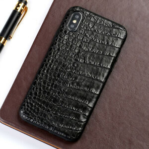 Genuine-Crocodile-Belly-Skin-Leather-Case-Cover-For-iPhone-XS-Max-XR-X-8-7-6Plus