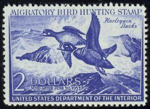 RW19-2-00-1952-HArlequin-Ducks-Lovely-Mint-NH-Single