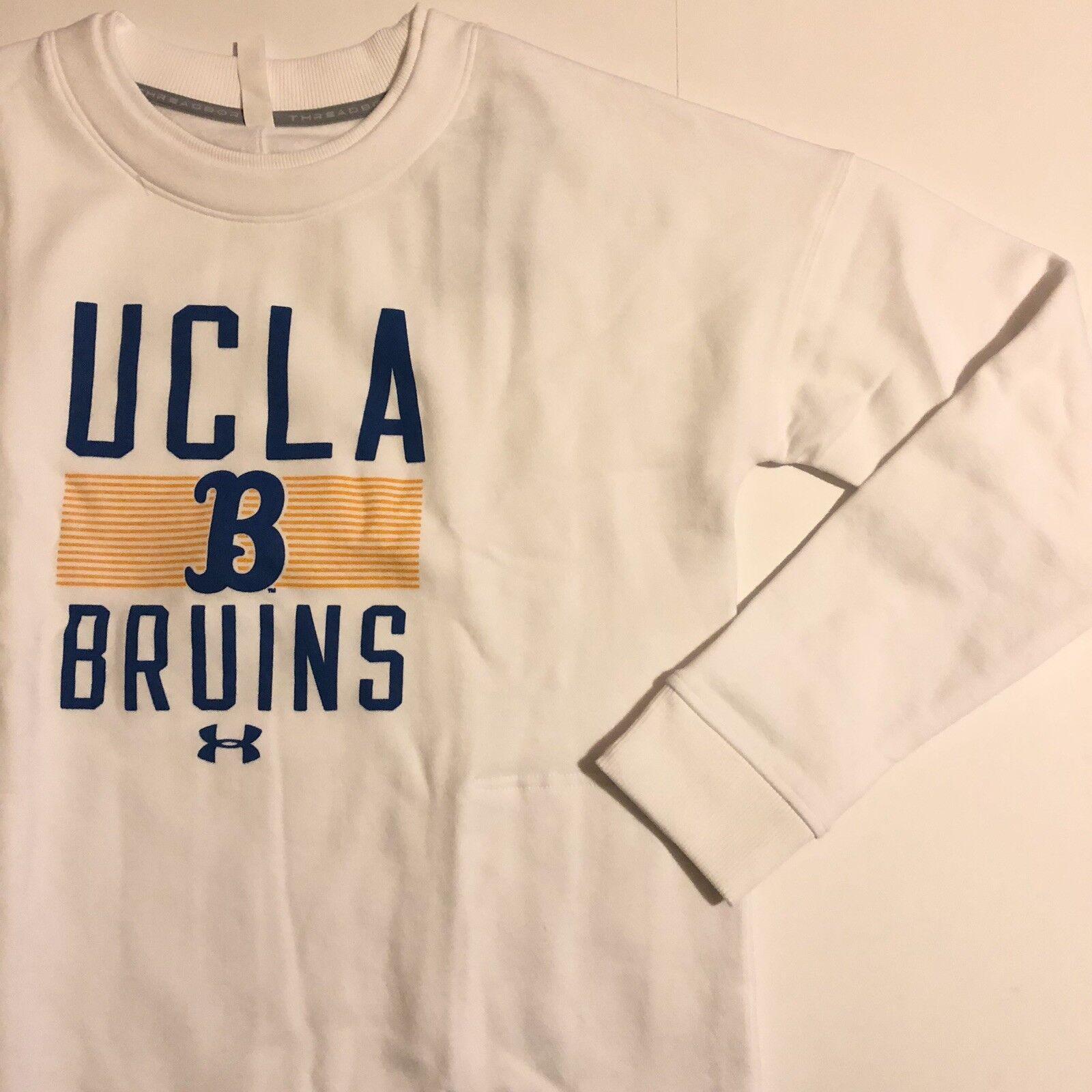 Herren Under Armour UCLA Bruins Sweatshirt Threadborne UW1562000 Medium Weiß