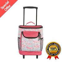 15'' Rolling Cooler One Size Splash Pink Flamingo Summer Picnic Camping Outdoor