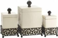 Canisters Sets For The Kitchen Ceramic Canister Set Counter Storage Lids Square