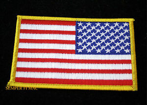 USA FLAG REVERSE PATCH RED WHITE BLUE BACKWARDS NAVY MARINES JACKET ... 80d9c93ebdb