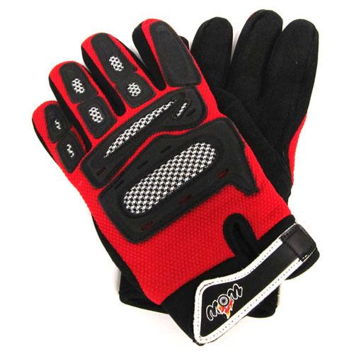 NEW Motorcycle Motocross BMX MX ATV Dirt Bike Racing Textile Gloves Red S-XXL