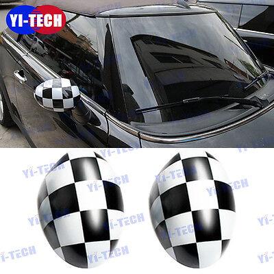 NOT A BASE For Mini Cooper MK2 Side Mirror Cover Cap Manual Mirror,Checker