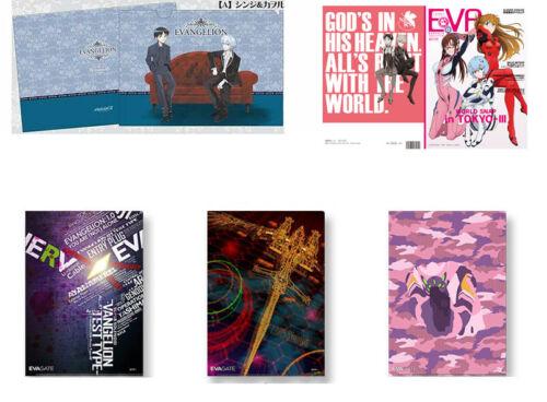 Kaworu Shinji Mari Asuka Rei Clear File Folder Notebook Rebuild of Evangelion
